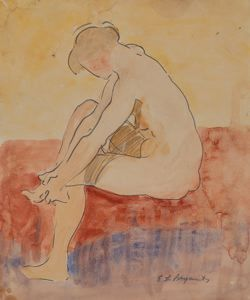 Image of Seated Nude